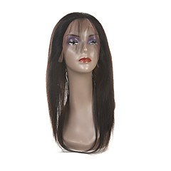 cheap Wigs & Hair Pieces-Laflare Malaysian Hair 360 Frontal Straight Free Part / Middle Part / 3 Part Swiss Lace Human Hair Women's With Baby Hair / For Black Women Party / Evening / Gift / Ceremony