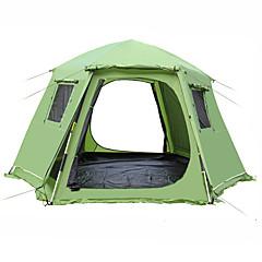 billige Telt og ly-Shamocamel® 5-7 personer Strandtelt Dobbelt camping Tent Utendørs Familietelt Uttrekkbar til Picnic 1500-2000 mm Terylene 368*368*190cm