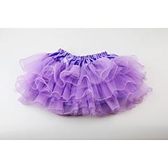お買い得  女児 スカート-ソリッド 女の子の 日常 お出かけ ポリエステル 夏 ノースリーブ ドレス キュート 活発的 ブルー ルビーレッド ピンク パープル