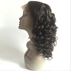 billiga Peruker och hårförlängning-Remy-hår Spetsfront Peruk Brasilianskt hår Löst vågigt Peruk Frisyr i lager 150% Hårtäthet med babyhår Naturlig hårlinje Till färgade kvinnor Svart Dam Lång Äkta peruker med hätta Aili Young Hair