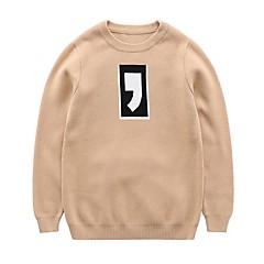billige Sweaters og cardigans til drenge-Børn Drenge Simple / Aktiv Ensfarvet Trykt mønster Langærmet Bomuld Trøje og cardigan / Sødt