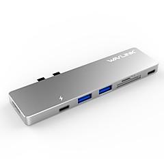 billige USB Hubs & Kontakter-RELLECIGA 7 USB Hub USB 3.0 Type C HDMI 2.0 USB 3.0 USB 3.0 Type C Højhastighed Data Hub
