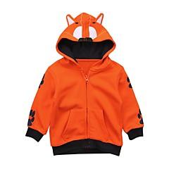 tanie Odzież dla chłopców-Dla chłopców Codzienny Wyjściowe Jendolity kolor Żakard Garnitur / marynarka, Bawełna Akryl Wiosna Lato Długi rękaw Urocza Aktywny Orange