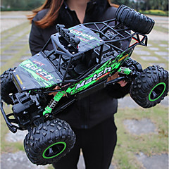 baratos Carros Controle Remoto-Carro com CR Bigfoot Monster Truck Rock Crawlers 4WD Canal 4 2.4G Urbano / Rock Climbing Car / Off Road Car 1:12 Electrico Não Escovado 12 km/h KM / H Lanterna / Impermeável / Antichoque