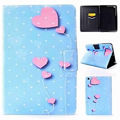 billige Nettbrettetuier&Skjermbeskyttere-Etui Til Apple iPad mini 4 iPad Pro 9.7 Flipp Mønster Heldekkende etui Hjerte Hard PU Leather til iPad Mini 4 iPad Mini 3/2/1 iPad 4/3/2