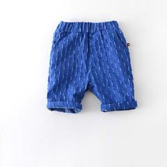 billige Drengebukser-Baby Drenge Vintage Daglig Ensfarvet Flettet Uden ærmer Bomuld / Hør / Bambus Fiber Shorts Blå