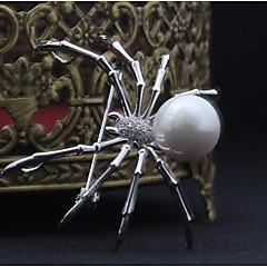 billige Motebrosjer-Nåler - Edderkopper, Dyr Europeisk, Statement Brosje Hvit / Grå Til Halloween / Maskerade
