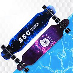 billige Skateboarding-41 Inch Longboards Skateboard Ahorn A8EC-9 Multi Farve Anti-glide Anti-Rystelse Hvid / Sort Bule / Sort Sort / Orange Lys Lyserød Blå og