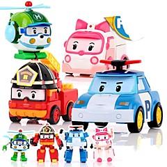 preiswerte -Tier-Actionfiguren Auto Transformierbar Plastikschale Kinder Jungen Mädchen Spielzeuge Geschenk 4 pcs