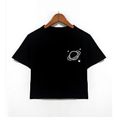 billige Overdele til drenge-Nyfødt Drenge Aktiv Daglig / Skole Geometrisk Kortærmet Bomuld T-shirt Sort / Sødt