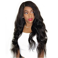 cheap Wigs & Hair Pieces-Virgin Human Hair Full Lace Wig Brazilian Hair Wavy Body Wave Black Wig Layered Haircut 130% Density with Baby Hair Natural Hairline Black Women's Short Medium Length Long Human Hair Lace Wig Aili