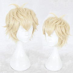 cheap Wigs & Hair Pieces-Synthetic Wig Men's Straight Blonde Layered Haircut Synthetic Hair Natural Hairline Blonde Wig Short Capless Blonde