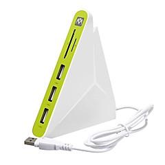 billige USB Hubs & Kontakter-3 USB Hub USB 2.0 USB 2.0 Med Kortlæser (e) Data Hub