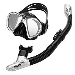 billiga Dykmasker, snorklar och simfötter-THENICE Snorklingspaket / Dykning Paket - Dykmaske, Snorkel - Anti-Dimma, Heta Försäljning, Torrdräkt – överdel Simmning, Dykning Eco PC,