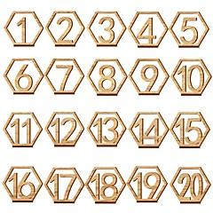 halpa Pöytäkoristeet-Puinen Taulukko Centerin Pieces - Yleinen Placecard Holders Reunat 20pcs Kaikki vuodenajat