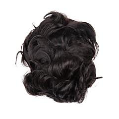 billiga Peruker och hårförlängning-Herr Äkta hår Tupéer 100 % handbundet