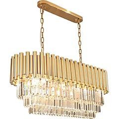 baratos Iluminação Decorativa-QIHengZhaoMing Cristais Lustres Luz Ambiente Acabamentos Pintados Metal Cristal 110-120V / 220-240V Branco Quente Lâmpada Incluída