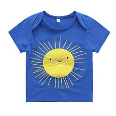 baratos Roupas de Meninos-Infantil / Bébé Para Meninos Retalhos Manga Curta Camiseta