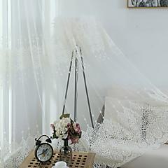 abordables Habillage de Fenêtres-Rideaux opaques Chambre à coucher Bohème Tricoté à la main Broderie