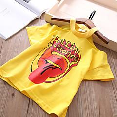 tanie Odzież dla dziewczynek-Brzdąc Dla dziewczynek Nadruk Krótki rękaw T-shirt