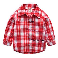 baratos Roupas de Meninos-Infantil / Bébé Para Meninos Listrado / Estampa Colorida / Jacquard Manga Longa Camisa