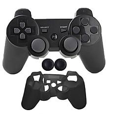 billiga PS3-tillbehör-Trådlös Game Controller Kit Till Sony PS3 ,  Bluetooth Bärbar Game Controller Kit Silikon 1 pcs enhet