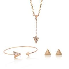 baratos Conjuntos de Bijuteria-Mulheres Diamante sintético Conjunto de jóias - Vintage, Fashion Incluir Dourado Para Graduação / Cerimônia / Brincos