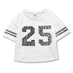 baratos Roupas de Meninos-Infantil Para Meninos Básico Sólido Manga Curta Camiseta
