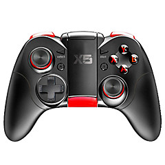 billige Smartphone Game Tilbehør-X5 Trådløs Game Controllers Til Android / PC / IOS, Bluetooth Bærbar Game Controllers ABS 1pcs enhed