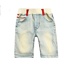 billige Drengebukser-Børn Drenge Geometrisk Farveblok Jeans