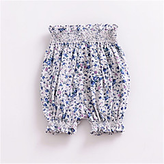 billige Babyunderdele-Baby Unisex Basale Ensfarvet Polyester Shorts Blå