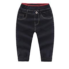 billige Jeans til piger-Børn Unisex Trykt mønster Jeans