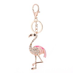 hesapli Anahtarlıklar-Anahtarlık Beyaz / Açık Pembe Flamingo alaşım Günlük, Moda Uyumluluk Hediye / Günlük