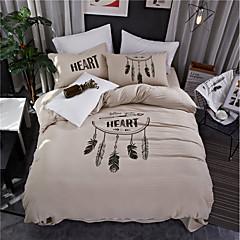 billige Hjemmetekstiler-Sengesett Moderne Polyester Trykket 4 delerBedding Sets / 250 / 4stk (1 Dynebetræk, 1 Lagen, 2 Pudebetræk)