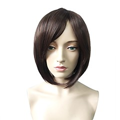 cheap Wigs & Hair Pieces-Synthetic Wig Women's Straight Dark Brown Bob / Short Bob Synthetic Hair Fashionable Design / Heat Resistant / Party Dark Brown Wig Short Capless Black / Brown