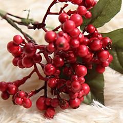 billige Kunstige blomster-Kunstige blomster 1 Gren Rustikk Fest Juletre Evige blomster Bordblomst