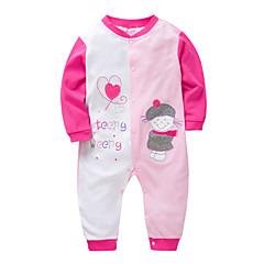 billige Babytøj-Baby Pige Patchwork Langærmet En del