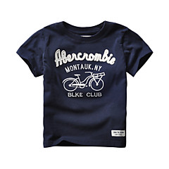 billige Pigetoppe-Børn / Baby Pige Trykt mønster Kortærmet T-shirt