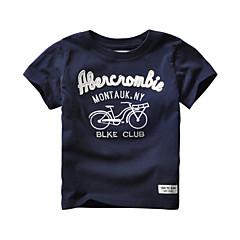 baratos Roupas de Meninas-Infantil / Bébé Para Meninas Estampado Manga Curta Camiseta