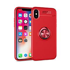 billige Telefoner og nettbrett-Etui Til Apple iPhone X / iPhone 8 Plus med stativ / Ringholder / Magnetisk Bakdeksel Ensfarget Myk TPU til iPhone X / iPhone 8 Plus /