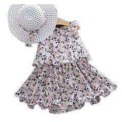 billige Babykjoler-Baby Pige Basale Geometrisk Uden ærmer Kjole