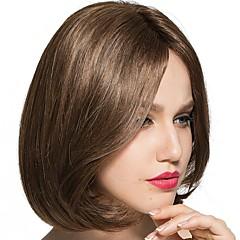 billiga Peruker och hårförlängning-Syntetiska peruker Vågigt Bob-frisyr / Frisyr i lager / Kort Bob Syntetiskt hår Värmetåligt / Dam / Ny Brun Peruk Dam Korta hälften Capless Ljusbrun