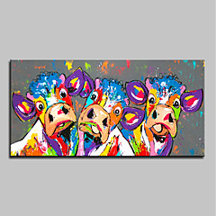 cheap Oversized Painting-Oil Painting Hand Painted - Abstract Pop Art Modern Canvas