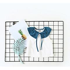 billige Babyoverdele-Baby Pige Aktiv Farveblok Uden ærmer T-shirt