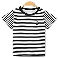 tanie Odzież dla chłopców-Dzieci Dla chłopców Podstawowy Prążki Nadruk Krótki rękaw Bawełna T-shirt