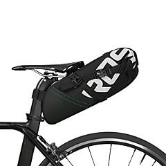 זול תיקי אופניים-ROSWHEEL תיק אופניים 10L תיקי אוכף לאופניים מחזיר אור מוגן מגשם רוכסן עמיד למים תיק אופניים פּוֹלִיאֶסטֶר תיק אופניים רכיבה על אופניים