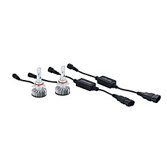 billige Frontlykter til bil-2pcs Bil Elpærer 25W Integrert LED 3000lm 2 LED Hodelykt For Universell Alle Modeller Alle år