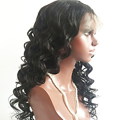 cheap Wigs & Hair Pieces-Virgin Human Hair Full Lace Wig Brazilian Hair Wavy Black Wig Layered Haircut 150% Density with Baby Hair For Black Women Black Women's Short Medium Length Long Human Hair Lace Wig Aili Young Hair