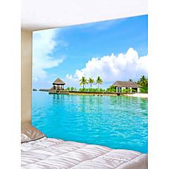billige Veggdekor-Strand Tema Landskap Veggdekor polyester Moderne Veggkunst, Veggtepper Dekorasjon