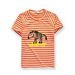 baratos Roupas de Meninos-Bébé Para Meninos Listrado Manga Curta Camiseta